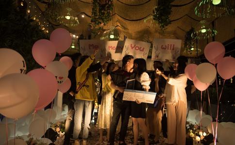 扬州太湖广场求婚 营造完美瞬间