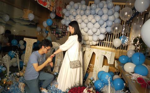 上海比较有价值的求婚方式,求婚方式自制延续电影做她的男主角