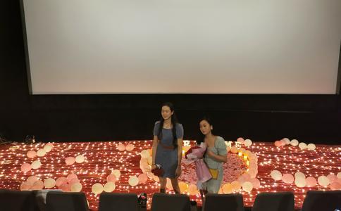 常州电影院浪漫求婚 女友惊喜到泪奔