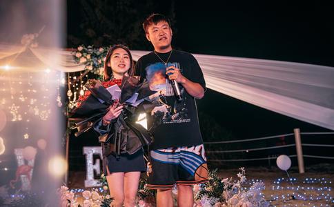 太原汾河公园圣诞节浪漫求婚 6年长跑迎来幸福