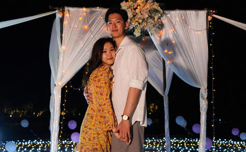西安小伙包在电影院用微电影向心爱女友求婚